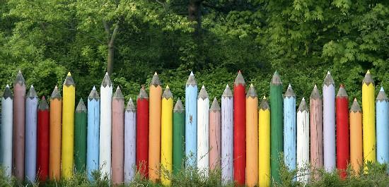 Colored pencils team creativity