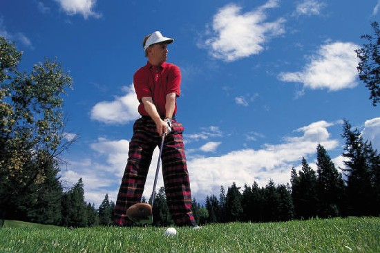 Golfer on Tee
